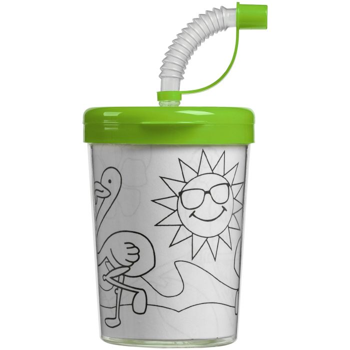 """Детский стакан-раскраска """"Передвижник"""", зелёный"""