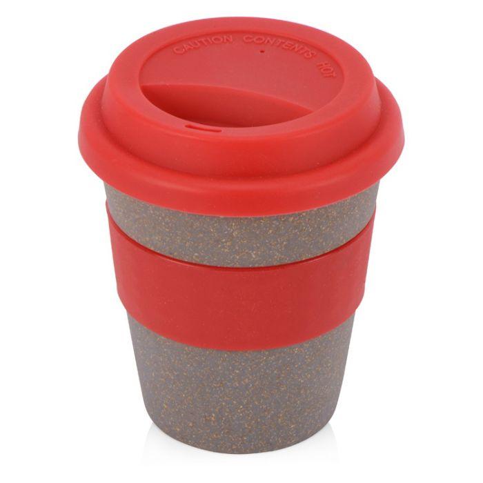 """Стакан из бамбукового волокна """"Cafe"""", 350 мл, цвет красный"""