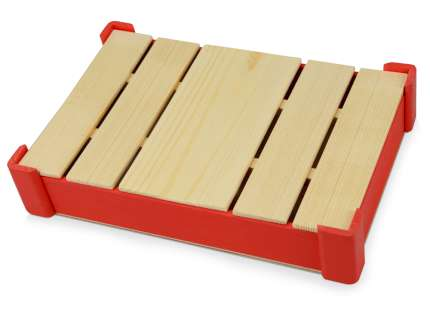 Подарочная коробка из дерева для ежедневника, цвет красный