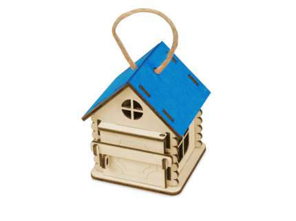 Игрушка-упаковка Домик, цвет натуральный с синим