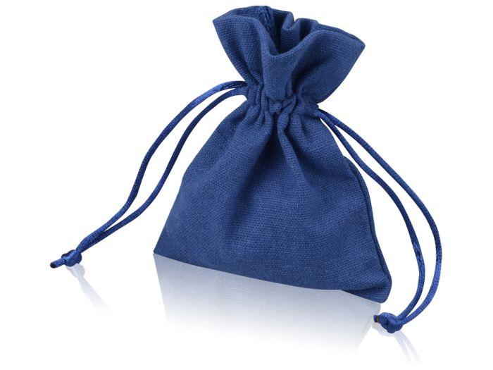 Мешочек подарочный маленький, размер 10х12,5 см, цвет тёмно-синий