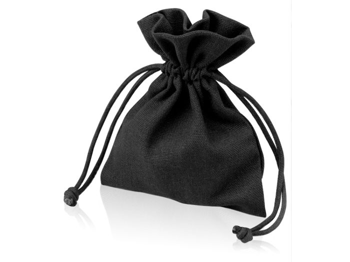 Мешочек подарочный маленький, размер 10х12,5 см, цвет чёрный