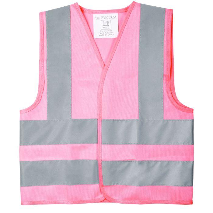 Жилет детский светоотражающий Glow, цвет розовый, размер S