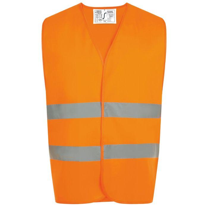 Жилет светоотражающий SECURE PRO, оранжевый неон, размер S/M