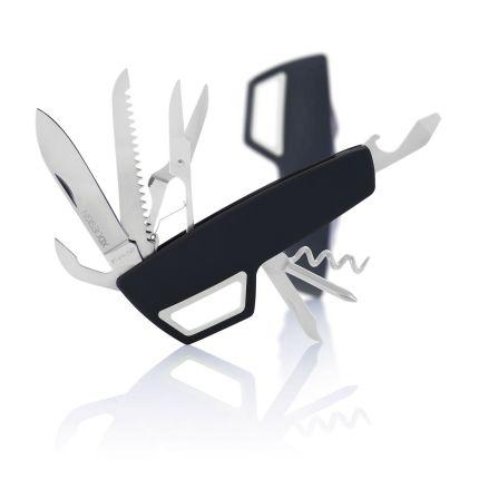 Карманный нож Tovo с карабином, черный