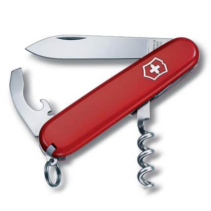 Нож перочинный VICTORINOX Waiter, 84 мм, 9 функций, красный