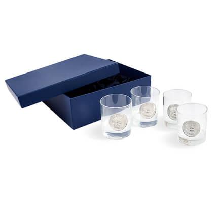 """Подарочный набор стаканов для виски """"ЖЕЛЕЗНОДОРОЖНЫЙ"""""""