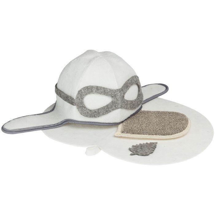 Банный набор Takeoff: шапка, коврик и мочалка-варежка