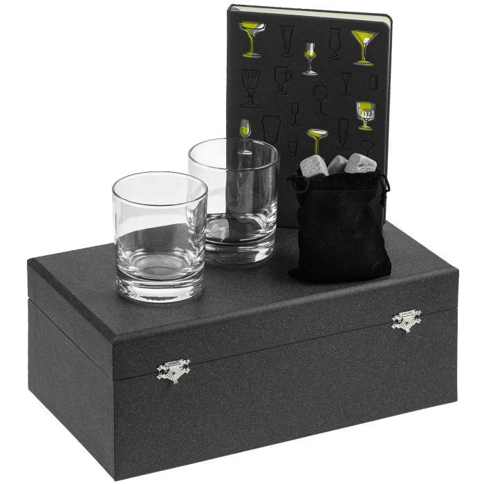 """Набор """"Культура пития"""", с бокалами и камнями для виски"""