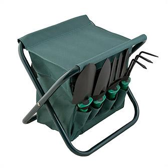 Набор садовых инструментов из 9 предметов со складным стульчиком