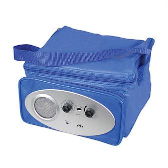 Сумка-холодильник с радио, синяя