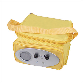 Сумка-холодильник с радио, желтая