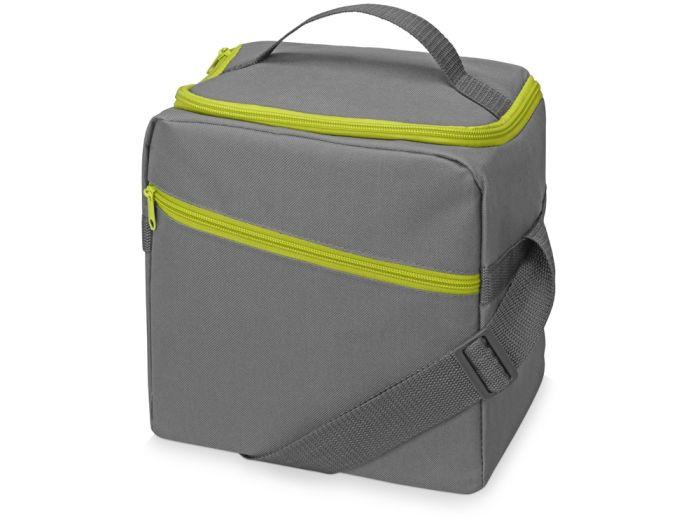 """Изотермическая сумка-холодильник """"Classic"""", цвет серый/зелёное яблоко"""
