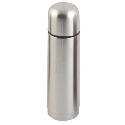 Термос с двойными стенками из нержавеющей стали, объем 500 мл, цвет серый