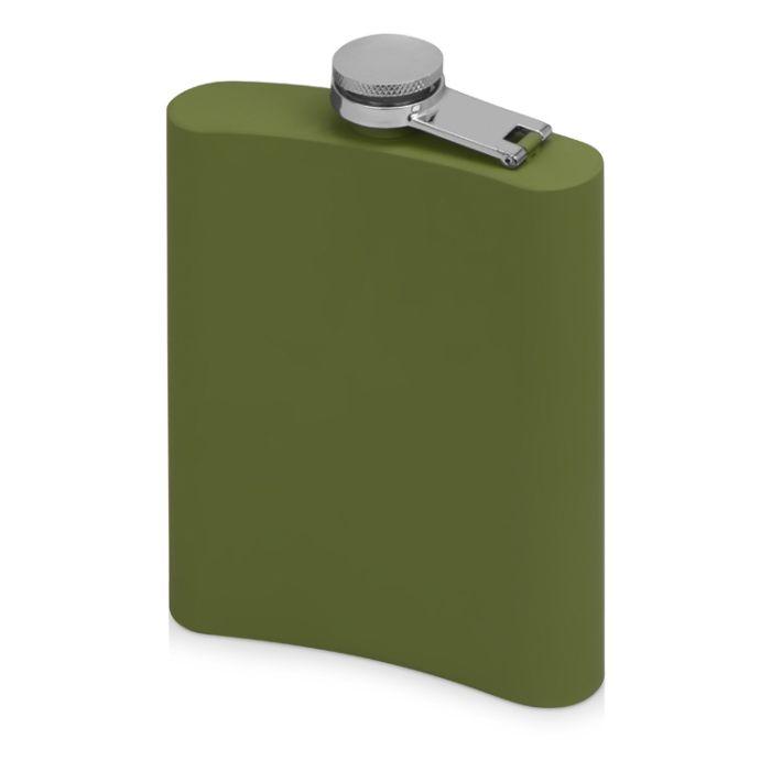 """Фляжка """"Remarque"""" с покрытием SOFT TOUCH, цвет зелёный милитари"""