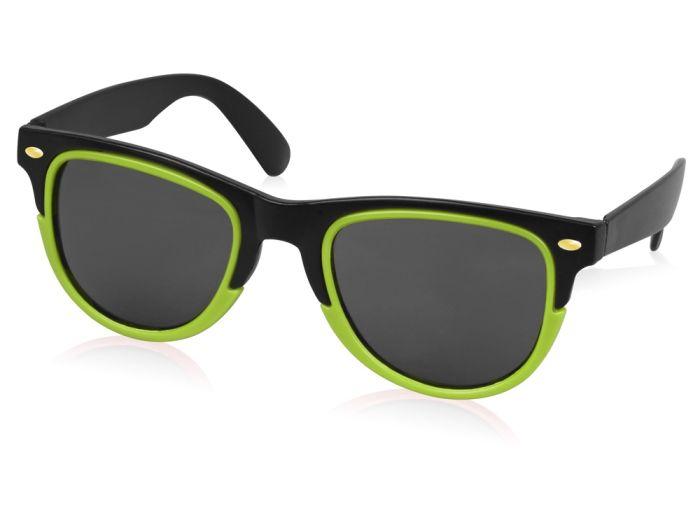 """Очки солнцезащитные """"Rockport"""", цвет чёрный/лайм"""