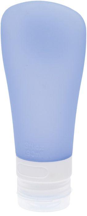Дорожная баночка для косметических средств Dewal Beauty, с присоской, 90 мл, голубая