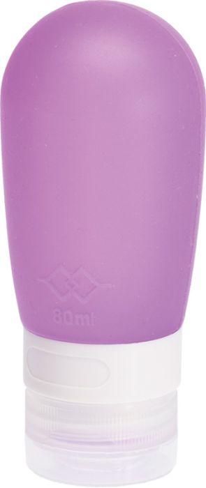 Дорожная баночка для косметических средств Dewal Beauty, с присоской, 80 мл, фиолетовая