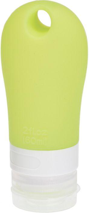 Дорожная баночка для косметических средств Dewal Beauty, с присоской, 60 мл, зелёная