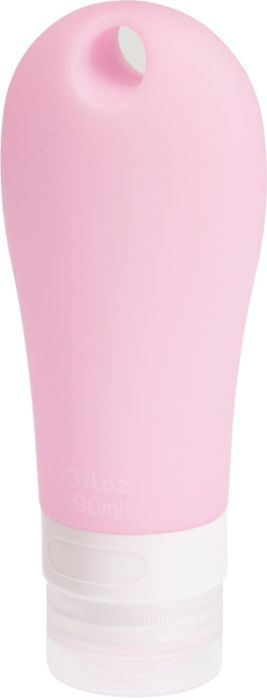 Дорожная баночка для косметических средств Dewal Beauty, с присоской, 90 мл, розовый