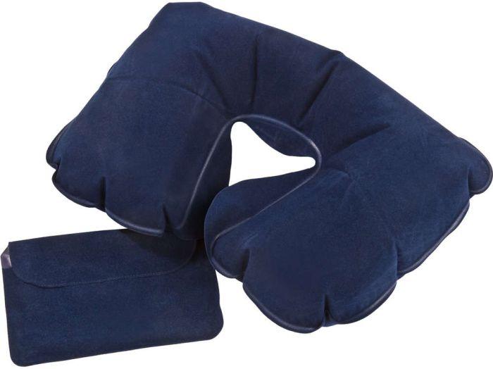 Надувная подушка под шею в чехле Sleep, синяя
