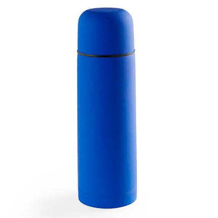 """Термос вакуумный """"Flask"""" с покрытием SOFT TOUCH, 500 мл, цвет синий"""