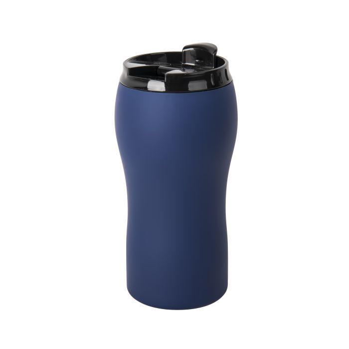 """Термокружка вакуумная """"Velvet"""" с покрытием SOFT TOUCH, объём 380 мл, цвет синий"""