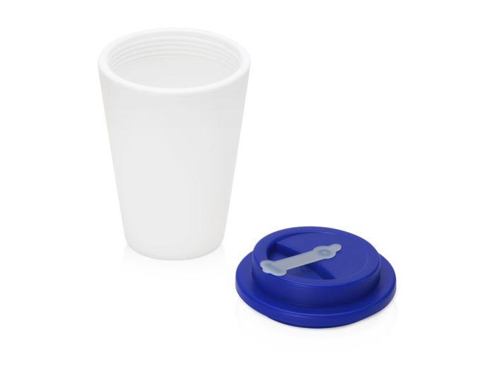 Пластиковый стакан для кофе с двойными стенками «Take away»,темно-синий