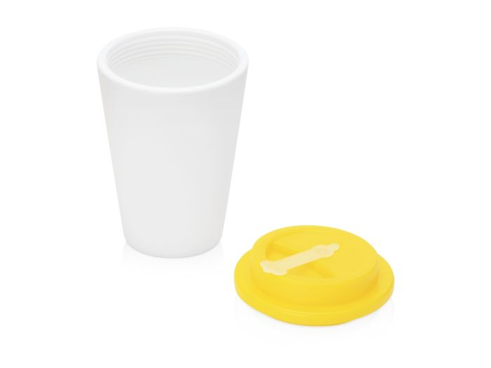 Пластиковый стакан для кофе с двойными стенками «Take away», желтый