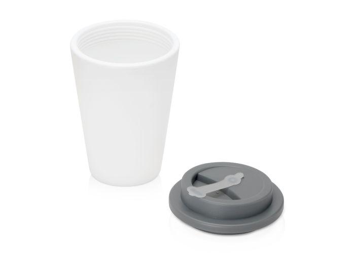 Пластиковый стакан для кофе с двойными стенками «Take away», серый