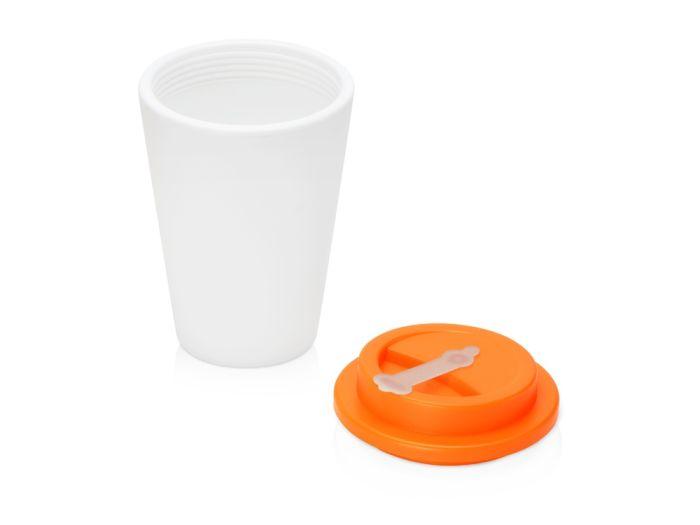 Пластиковый стакан для кофе с двойными стенками «Take away», оранжевый