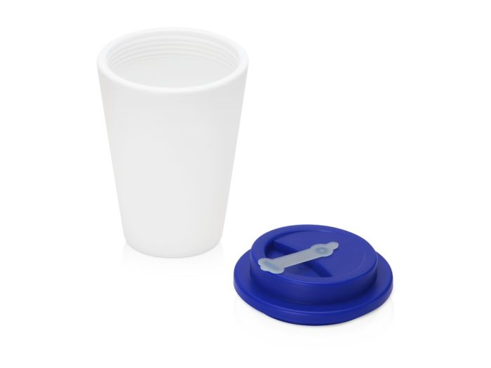Пластиковый стакан для кофе с двойными стенками «Take away», синий