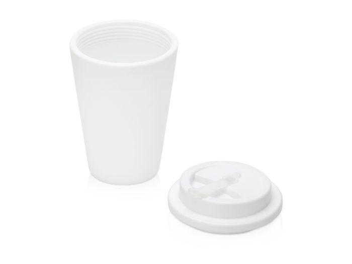 Пластиковый стакан для кофе с двойными стенками «Take away», белый