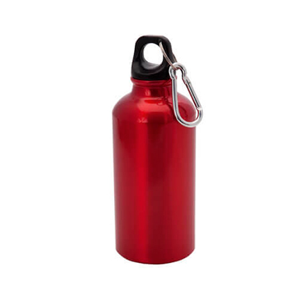 """Бутылка для воды """"Mento"""", с карабином, 400 мл, цвет красный"""