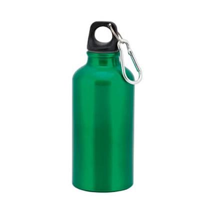 """Бутылка для воды """"Mento"""", с карабином, 400 мл, цвет зелёный"""