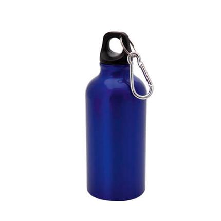 """Бутылка для воды """"Mento"""", с карабином, 400 мл, цвет синий"""