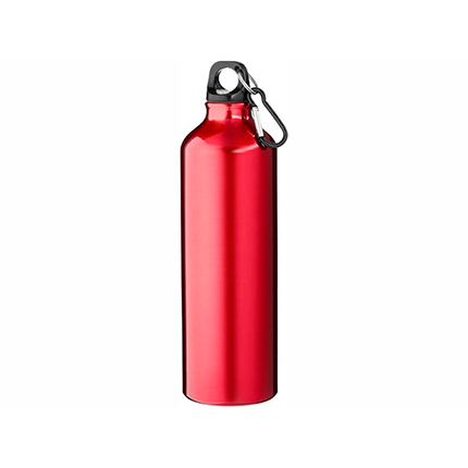 """Бутылка """"Pacific"""" с карабином, объём 770 мл, цвет красный"""