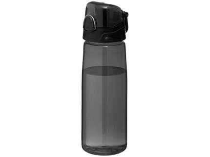 """Бутылка спортивная """"Capri"""", объём 700 мл, цвет чёрный прозрачный"""