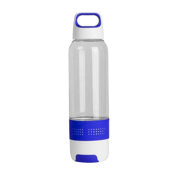 Бутылка с полотенцем TRAINER, 500 мл, цвет белый с синим