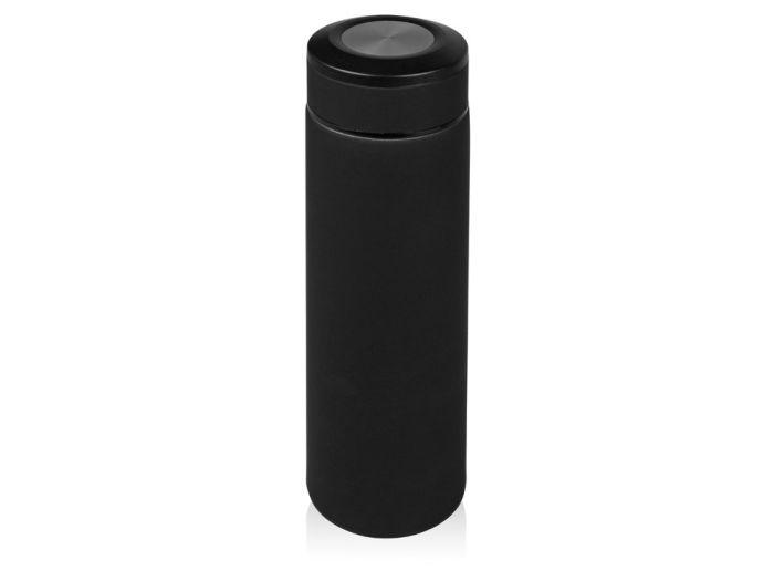 """Термоc """"Confident"""" с покрытием SOFT TOUCH, 480 мл, цвет чёрный с серебристым"""