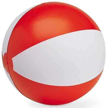 """Мяч надувной """"ЗЕБРА"""", 45 см, цвет белый с красным"""