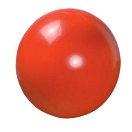 Мяч пляжный надувной, 40 см, красный