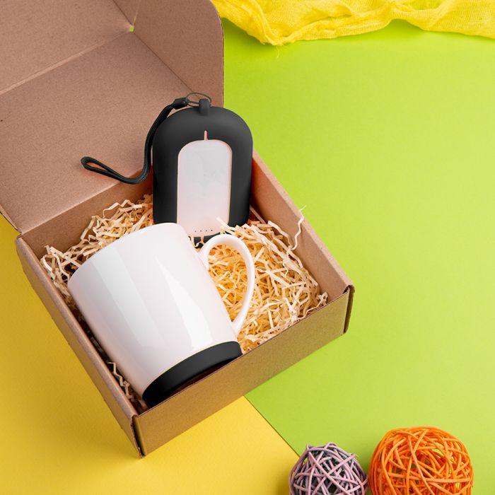 Набор подарочный MATISSE`TEAS: кружка(400мл) , зарядное устройство(6000 mAh), коробка, стружка, черный
