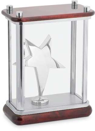 """Статуэтка """"Звезда"""" в стекле, Linea del Tempo, (цвет серебряный, коричневый) (A04SBR)"""