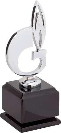 """Статуэтка """"Символ газа"""", Linea del Tempo, (цвет чёрный, серебряный) (G05SBL)"""