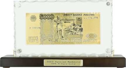 """Сувенир настольный """"5000 рублей"""" на деревянной подставке"""