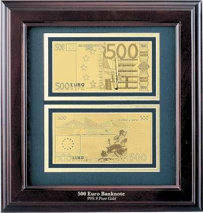 """Панно """"500 евро"""" в деревянной квадратной раме"""