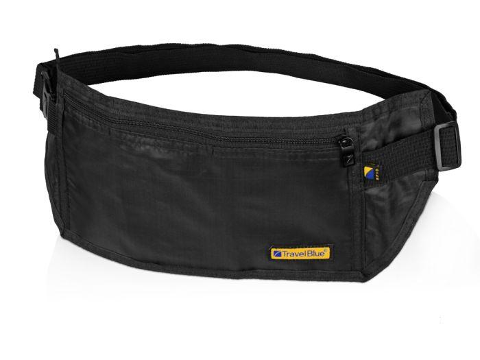 Сумка-кошелек на пояс Money Belt c RFID защитой, цвет чёрный